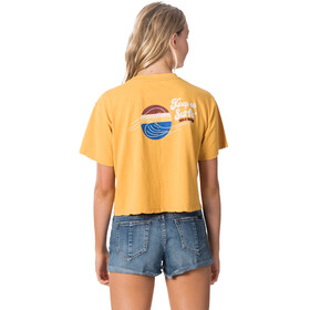 Rip Curl Keep On Surfin Crop Tee Women yellow